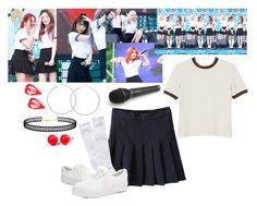 Red Velvet -  MBC-R Single Bungle Show - Pyeongchang Olympics Concert by marissa-malik on Polyvore featuring polyvore fashion style Monki LULUS Hring eftir hring clothing