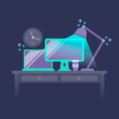 How to Create a Desktop Illustration in Adobe Illustrator Tutorials Flat Graphic Design Illustration Illustrator Tutorial Vector
