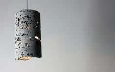 Lavatube S2.0 Suspension lamp by Lighthouse made from real Icelandic lava.