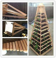 Tiered vertical raised garden pyramid