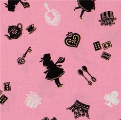 pink Japanese fabric Alice in Wonderland Cosmo 1 - Quilt for Sadie