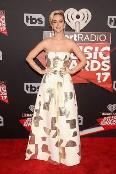 Katy wore PANTS to the iHeart radio show, and they basically looked like a dress.