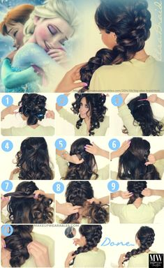 Elsa Frozen Hairstyle hair Tutorial - How to do a big Dutch braid on yourself