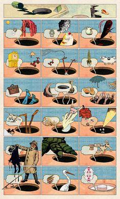 Samplerman: Collage comics (It's Nice That) Collage Sculpture, Tush Magazine, The Doors Of Perception, Disney Monsters, Comic Styles, Art Styles, Comic Book Artists, Art Plastique, Art History