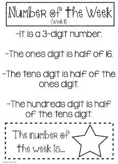All Things Upper Elementary: Number of the Week for Upper Grades