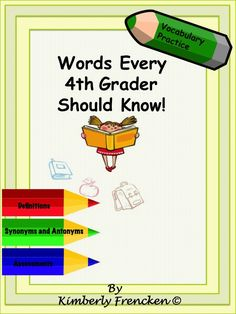 Improve your student's vocabulary with 3 literacy center games designed to teach definition, synonyms, and antonyms. Then, you can check for mastery with 5 different assessments.