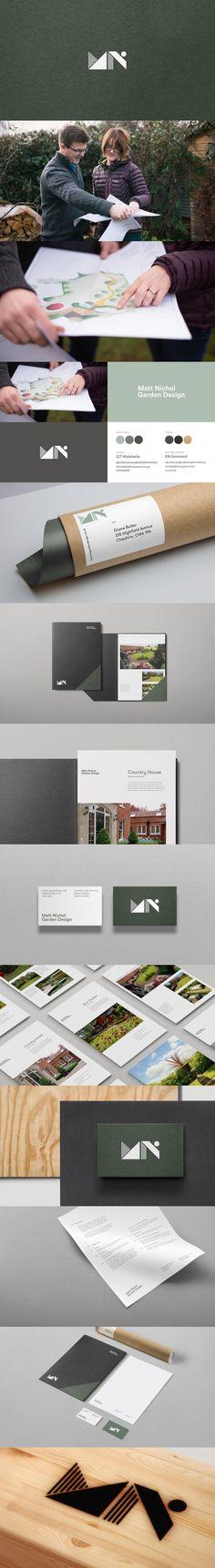 A brand identity for garden designer Matt Nichol — Dawn Creative Creative Portfolio, Brand Identity, Dawn, Garden Design, Landscape Designs, Branding, Yard Design