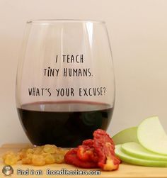 Back to school wine glass for teachers