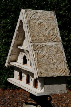 Antique style dovecote large bird house by LynxCreekDesigns