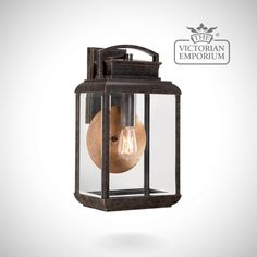 Byron large wall lantern in Imperial Bronze - Outdoor Wall Lights