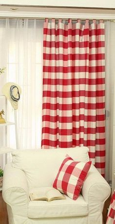 Ballard Designs Buffalo Check Drapery Panel Liked On