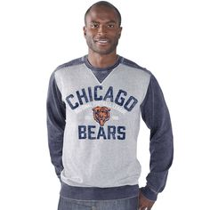 710c8e9f9 Chicago Bears G-III Sports by Carl Banks Zone Blitz Crew Neck Pullover -  Heather Grey. Steelers SweatshirtPittsburgh ...