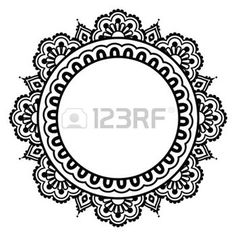 Illustration of Indian Henna floral tattoo round pattern - Mehndi vector art, clipart and stock vectors. Maori Tattoos, Henna Tattoos, Henna Indiana, Kreis Tattoo, Avocado Tattoo, Indian Henna, Indian Mandala, Muster Tattoos, Simple Henna