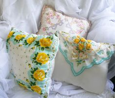 Vintage Handkerchief Pillows