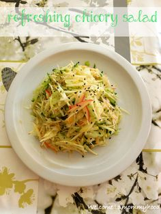 Easy healthy recipes: chicory salad by Welcome to Mommyhood