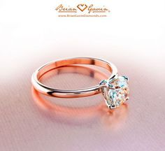 I love rose gold, i don't want anything complicated with a million diamonds, one is perfect.
