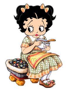 Betty Boop as an adorable little girl.