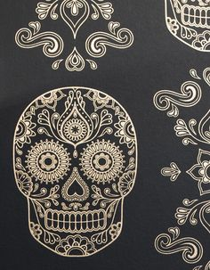 SAMPLES Of Day The Dead Sugar Skull Wallpaper