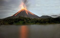 Arenal Volcano Coasta Rica.....6 active volcanoes in Coasta Rica going to go to all during my study abroad!