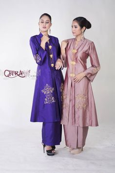 Kebaya Hijab, Kebaya Dress, Batik Kebaya, Kebaya Muslim, Kebaya Wedding, Hijab Dress Party, Muslim Wedding Dresses, Dress Sketches, Linen Dresses