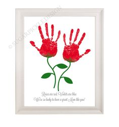 Gift for Mom, Mom's Birthday Gift, Personalized, Handprint, Kids gift to a Mother, Kids gift to mom idea