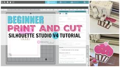 Beginner Silhouette Print and Cut Tutorial for V4 (Free Silhouette Design File) - Silhouette School Print And Cut Silhouette, Free Silhouette Designs, Silhouette School Blog, Silhouette Cameo Tutorials, Silhouette Curio, Silhouette Cameo Machine, Silhouette Vinyl, Silhouette Portrait, Silhouette Projects