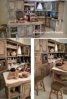 Miniature Dollhouse Miniature Kitchen Shabby by LecreazionidiNadia