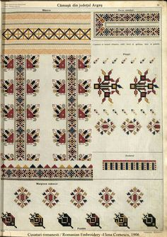 Camasa dreapta Arges, album Elena Cornescu Palestinian Embroidery, Folk Embroidery, Folk Costume, Pattern Books, Cross Stitching, Cross Stitch Patterns, Bohemian Rug, Elsa, Textiles