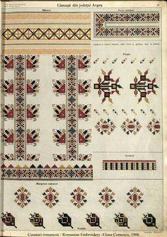 Camasa dreapta Arges, album Elena Cornescu Palestinian Embroidery, Folk Embroidery, Cross Stitching, Romania, Cross Stitch Patterns, Bohemian Rug, Projects To Try, Elsa, Textiles