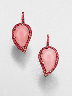 Pretty in #pink -  From the Lenox Collection: Phillips House 14K Gold & Semi-Precious Multi-Stone Petal Drop Earring #phillipshouse