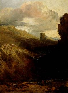 turner paintings tate | Joseph Mallord William Turner, 'Dolbadarn Castle - Study for Diploma ...