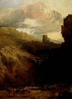 turner paintings tate | Joseph Mallord William Turner, 'Dolbadarn Castle - Study for Diploma ...