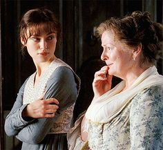 Keira Knightley (Elizabeth Bennet) & Brenda Blethyn (Mrs. Bennet) - Pride & Prejudice (2005) directed by Joe Wright #janeausten