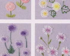 No.21 PDF Pattern of How to do  Flower Hand Embroidery Vintage
