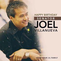 Happy Birthday Senator Joel Villanueva From your JIL family
