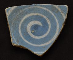 Mudlarking Find from the Thames London a delft swirl