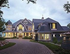 Plan W23415JD: Photo Gallery, Shingle Style, Corner Lot, Country, Luxury, Premium Collection, Cape Cod, Sloping Lot House Plans & Home Designs