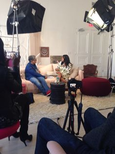 "#Deepakchopra & #MarquitaSmith on her book ""PS Pray the Same for Me"" and howIgrewtoday.com on the #ONEWORLD set at #ABCHome"