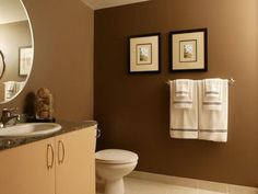 Earth tones for powder room