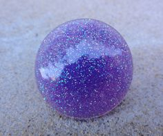 Lavender Glitter Bubble Resin Statement Ring by GlitterFusion