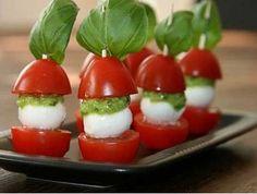 Jednohubky na párty z cherry paradajok a mozzarelly -   Uvarene.sk