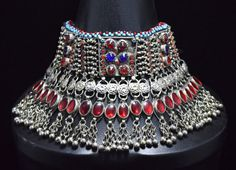 Hey, I found this really awesome Etsy listing at https://www.etsy.com/listing/216551815/afghan-kuchi-necklacechoker-tribal