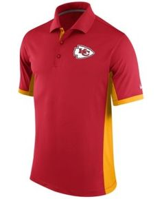 Nike Men's Kansas City Chiefs Team Issue Polo - Red/Gold S