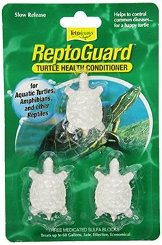 Time-release sulfa block helps to control a variety of disease-causing organisms including salmonella for the safety of pets and owners. Each turtle-shaped block treats up to 20-Gallon. Available as...