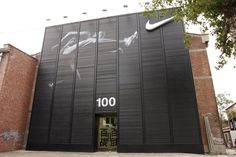 Nike 100 by 2x4. The facade for the Nike 100 exhibition was made in tri-media, which shifted between images.