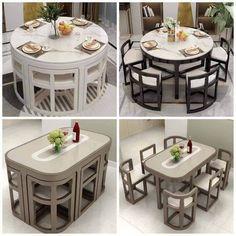 Room Design Bedroom, Kitchen Room Design, Home Room Design, Home Decor Kitchen, Kitchen Interior, Home Interior Design, Kitchen Ideas, Dinning Table Design, Unique Dining Tables