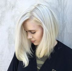Platinum blonde lob by Anthony Holguin                                                                                                                                                                                 More