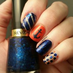 @revlon Artsy, @revlon Holographic Pearls  and Dermelect Head Turner #nails #nailart #naildesign  @dmm_nails