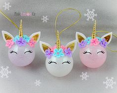 Wonderful Absolutely Free rustic Personalized Ornaments Style With regard to this girls'once-a-year holiday break unit card as well as treat return this past year, I wanted. Unicorn Christmas Decoration, Unicorn Christmas Ornament, Unicorn Ornaments, Personalized Christmas Ornaments, Diy Christmas Ornaments, Diy Christmas Gifts, Christmas Decorations, Christmas Crafts For Kids, Christmas Fun