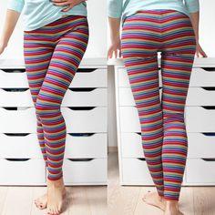 Střih a návod na dámské legíny Peplum, Pants, Fashion, Sewing, Moda, Trousers, Women Pants, Fasion, Women's Pants